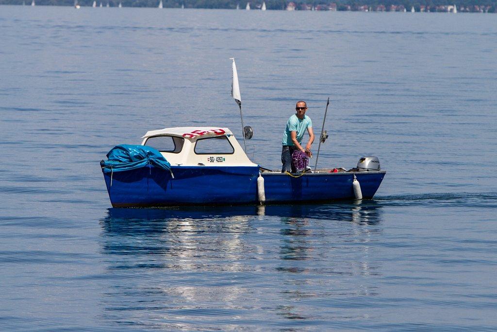 Fischer auf dem Bodensee